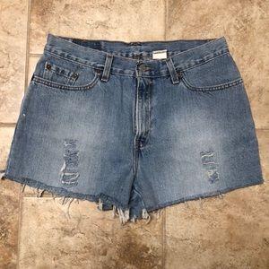 Levi's High Waisted Denim Cutoff Shorts Size 12
